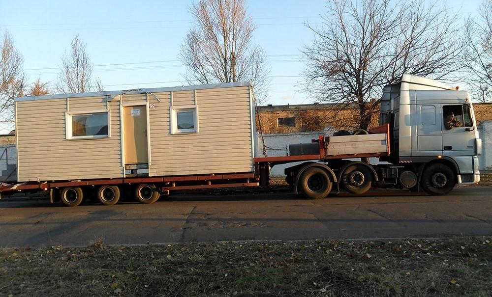 Перевозка строительного вагончика