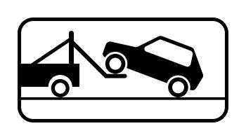 Знак работы эвакуатора ГИБДД